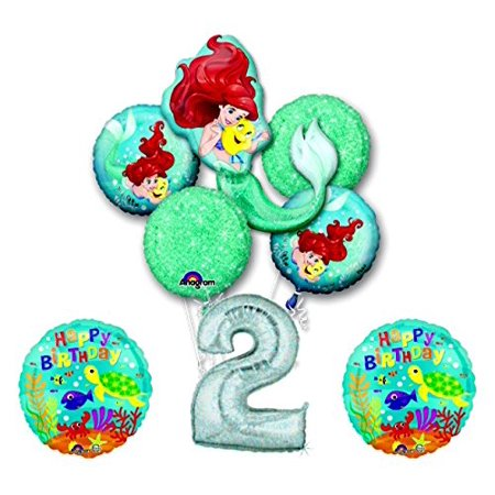 NEW! Ariel Little Mermaid Disney Princess Undersea 2nd BIRTHDAY PARTY Balloon... - Princess Ariel Birthday Party