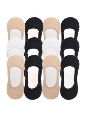 Angelina Cotton No-Show Liner Socks (12-Pairs)