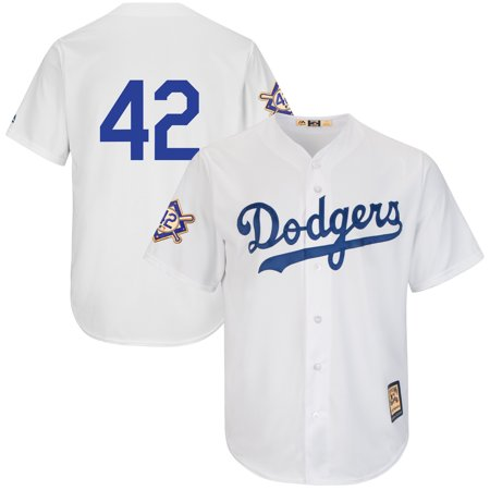 Brooklyn Dodgers Majestic 2019 Jackie Robinson Day Cooperstown Jersey - White](Jackie Moon Jersey)