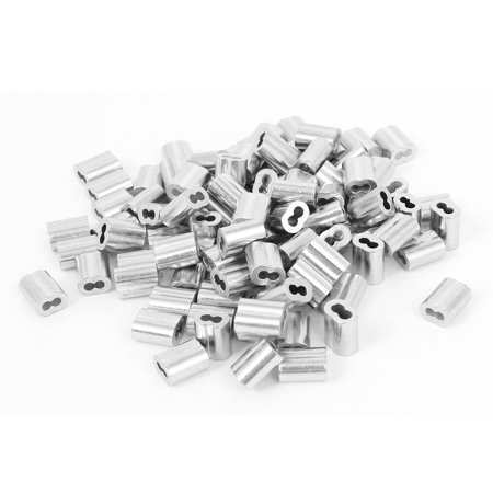 "1/16"" Wire Rope Aluminum Sleeves Clip Fittings Cable Crimps 100pcs"