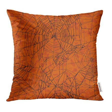 USART Collage Orange Halloween Pattern Creepy Evil Black October Spooky Danger Dark Pillow Case Pillow Cover 16x16 inch Throw Pillow Covers - Halloween Party Names College