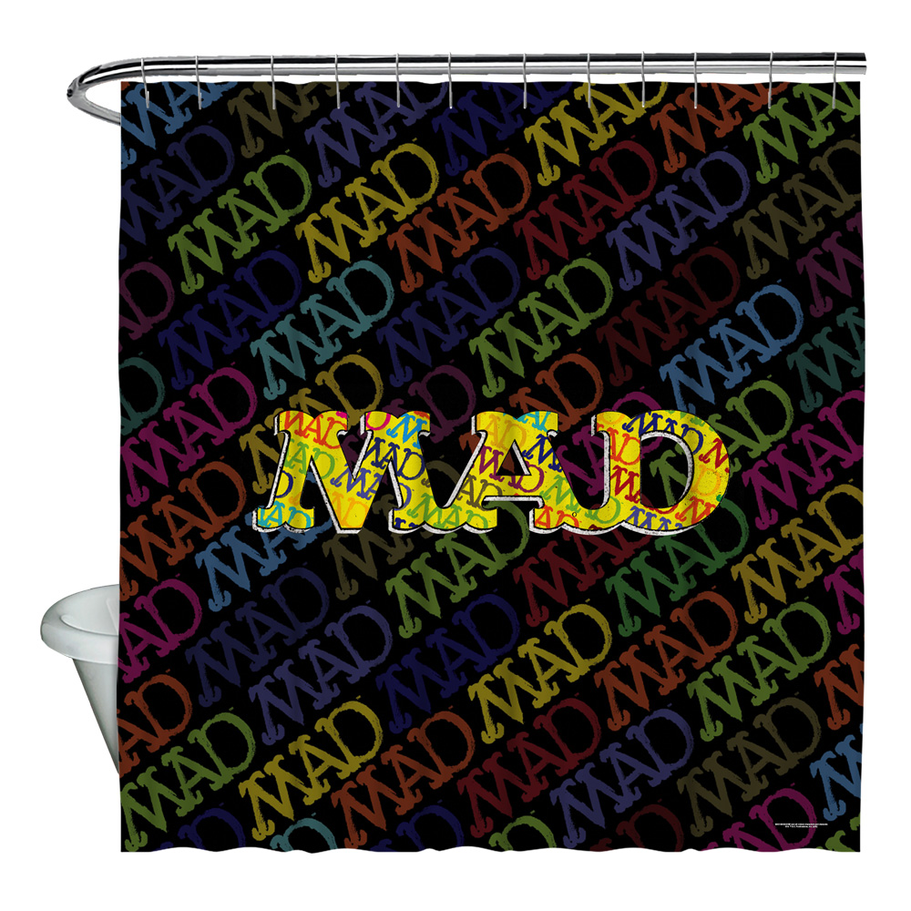 Mad So Much Mad Shower Curtain White 71X74