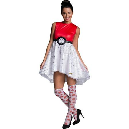 Pokeball Dress Adult Halloween Costume - Pokeball Costume