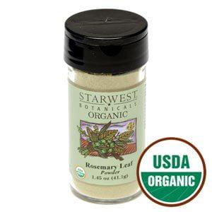 Botanical Jar (Organic Rosemary Leaf Powder Jar 1.45 Oz - Starwest)