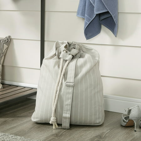 Better Homes & Gardens Grey Pumice Drawstring Laundry Bag