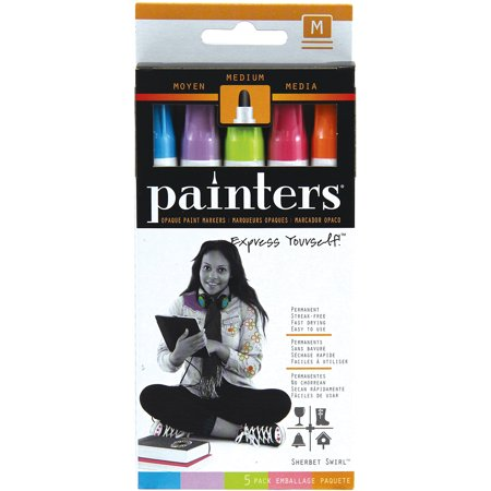 Elmer's Painters (R) Opaque Paint Markers Medium Point 5/Pk-Sherbet Swirl
