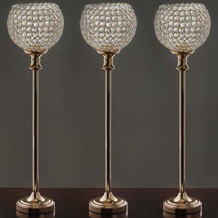Efavormart Gold Acrylic Chandelier Event Centerpiece/Candle Holder /Wedding Aisle Prop - 10