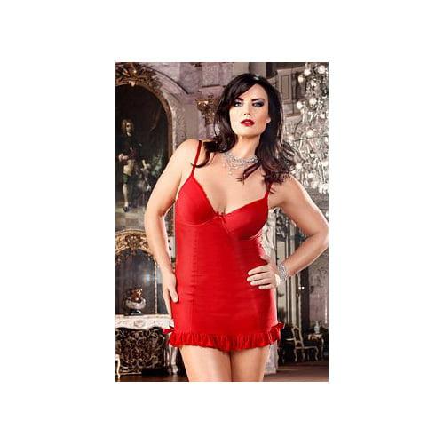 Open Back Salsa Diva Chemise BLW204X Baci Lingerie Red