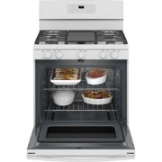 30-Inch Single Oven Gas Range With Self-Cleaning In White