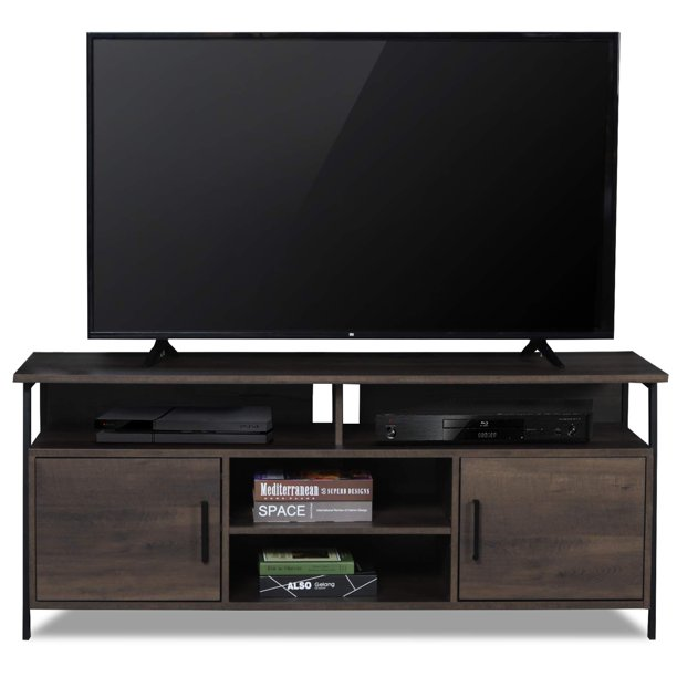 Sekey Home Entertainment Center Wood Media TV Stand Storage