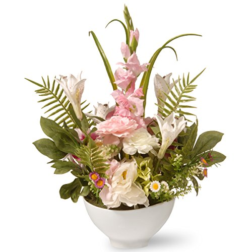Potted Mixture of Daisy, Carnations and Lily Flowers