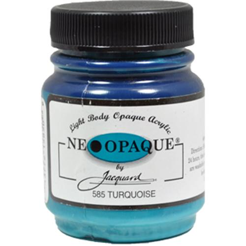 Jacquard Neopaque Color #585 TURQUOISE Screen Stenciling Stamping Paint 2.25oz