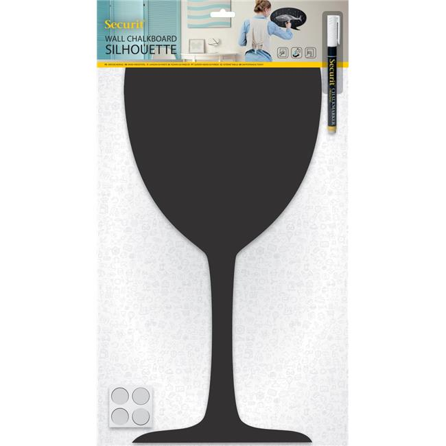 Securit FB-GLASS 11.81 x 19.69 in. Silhouette Chalkboard - Glass