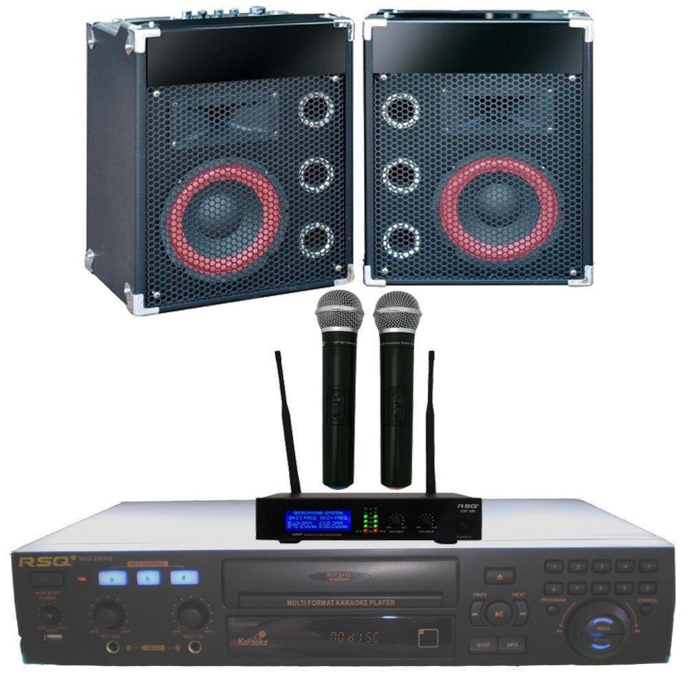 Karaoke System RSQ Player Speakers Mics 3100 MP3