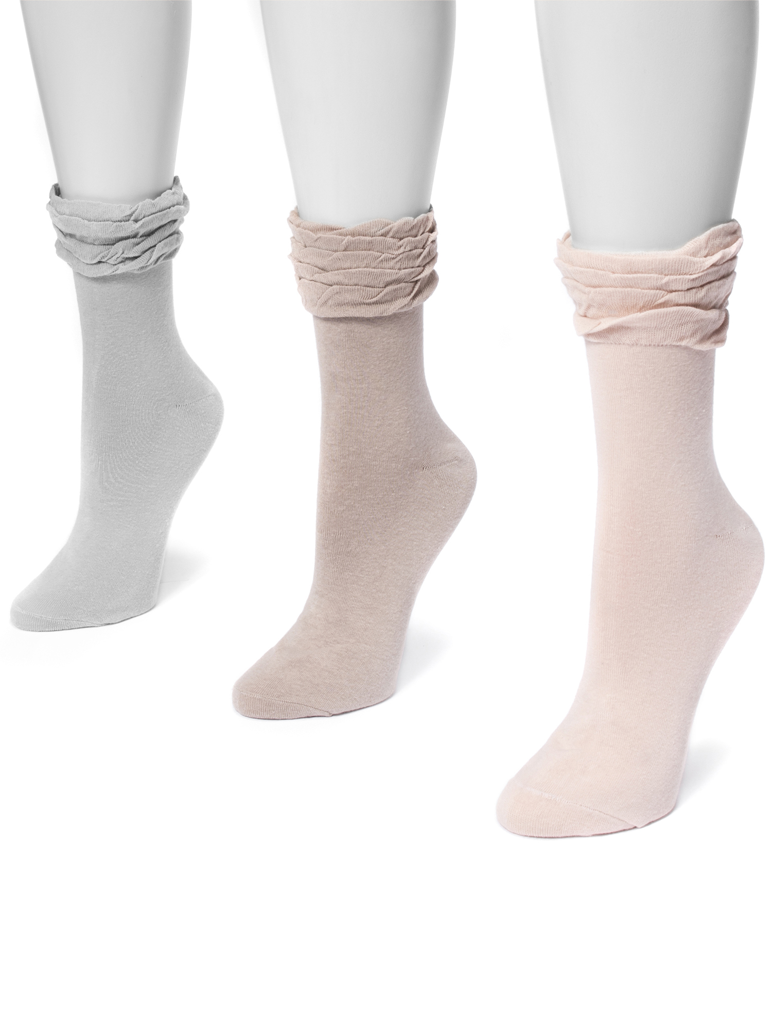 Women's 3 Pair Pack Ruffle Boot Socks