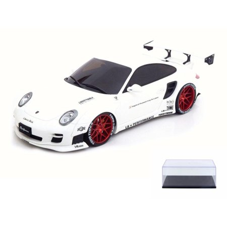 Diecast Car & Display Case Package - 2010 Porsche 997 Turbo Hard Top, White - GT Spirit ZM090 - 1/18 Scale Collectible Resin Model Car w/Display -