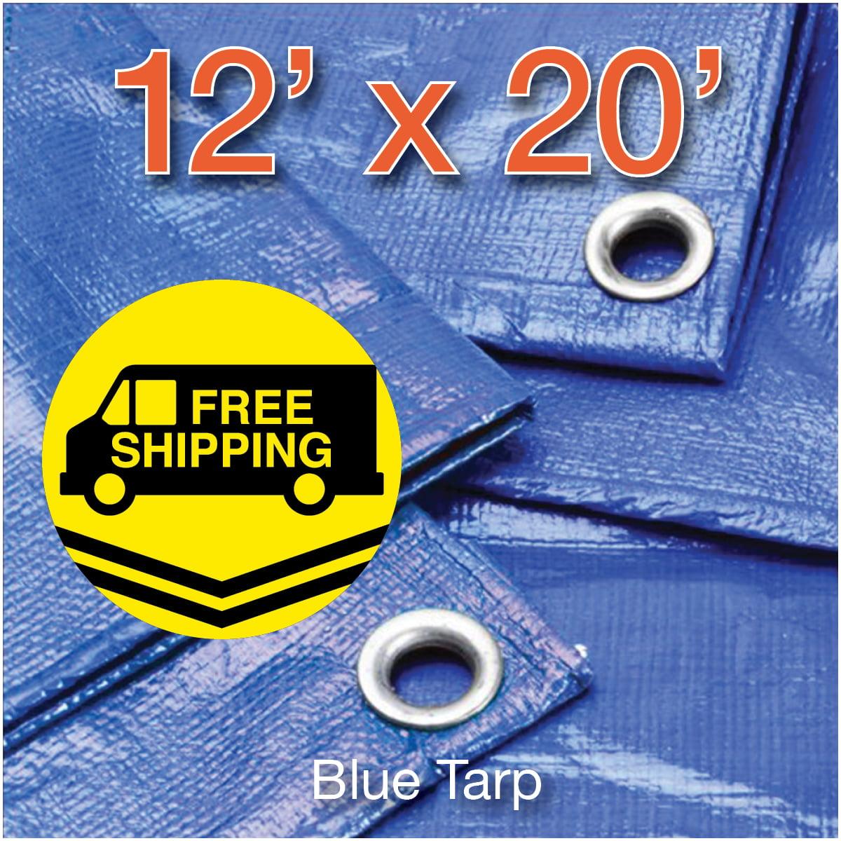 Hygrade 23300192 Light Duty Blue Poly Tarp 12/' X 20/'