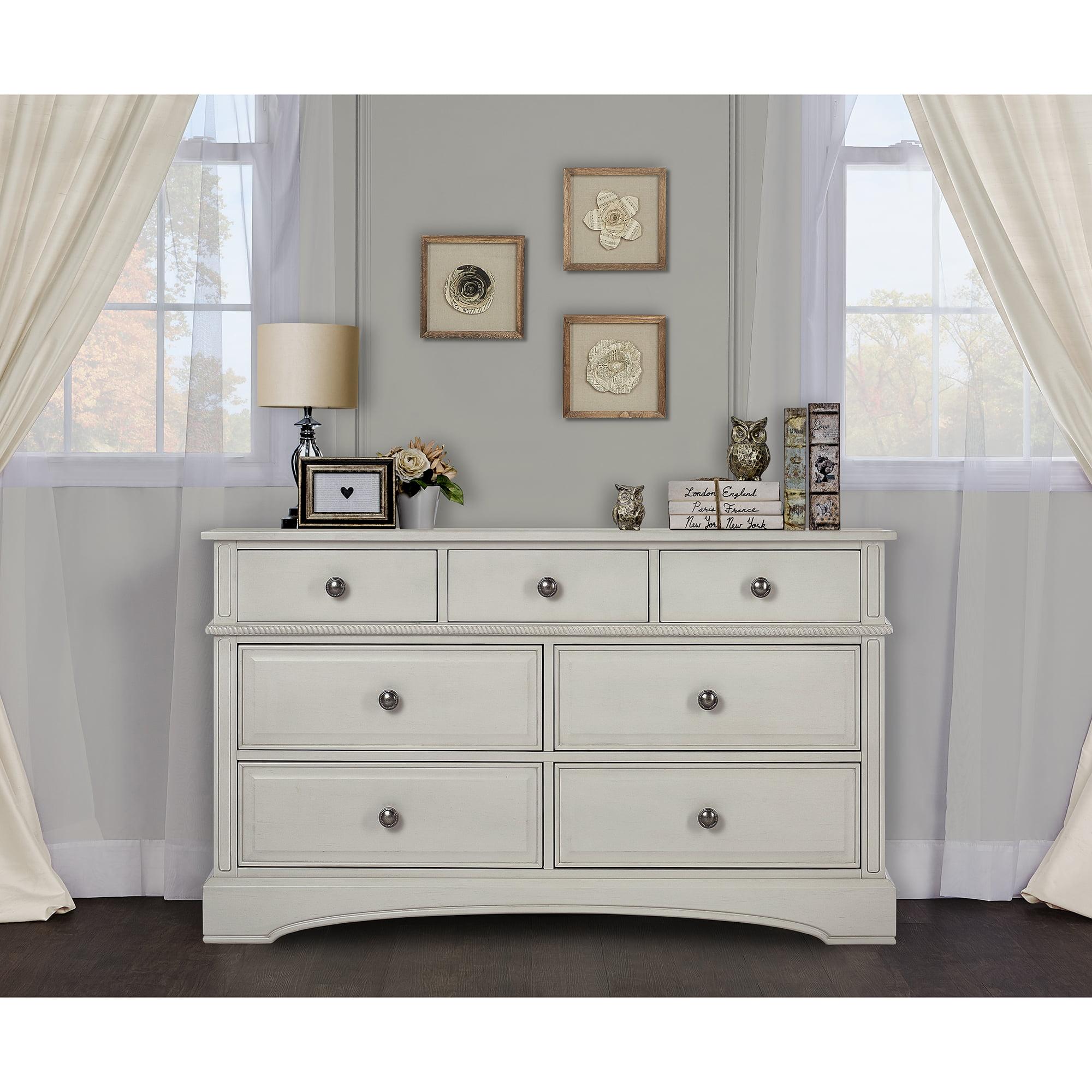 Evolur Double Drawer Dresser in Antique White by Evolur