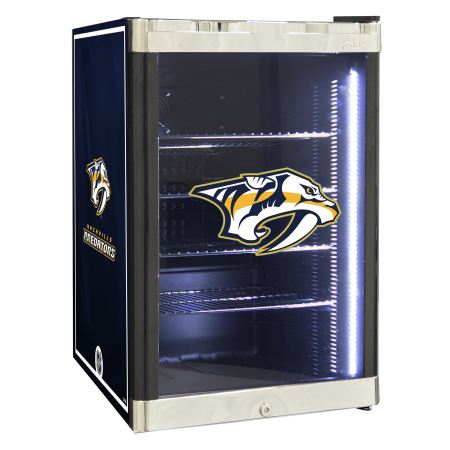 NHL Refrigerated Beverage Center 2.5 cu ft Nashville Predators by