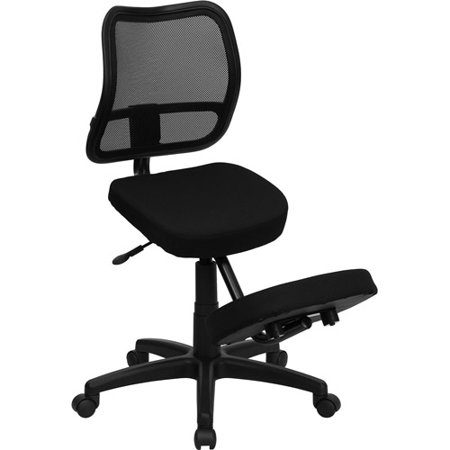 furniture ergonomic kneeling chair with mesh back black