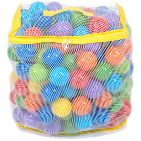 200 Wonder Playball Non-Toxic Crush Proof Quality Pit Balls w/ Mesh Tote: 8 Colors, BPA Lead & Phthalate - Wonder Balls