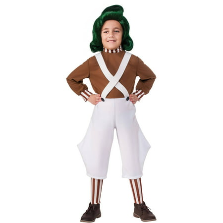 Oompa Loompa Child Halloween Costume - Willy Wonka Oompa Loompa Costumes