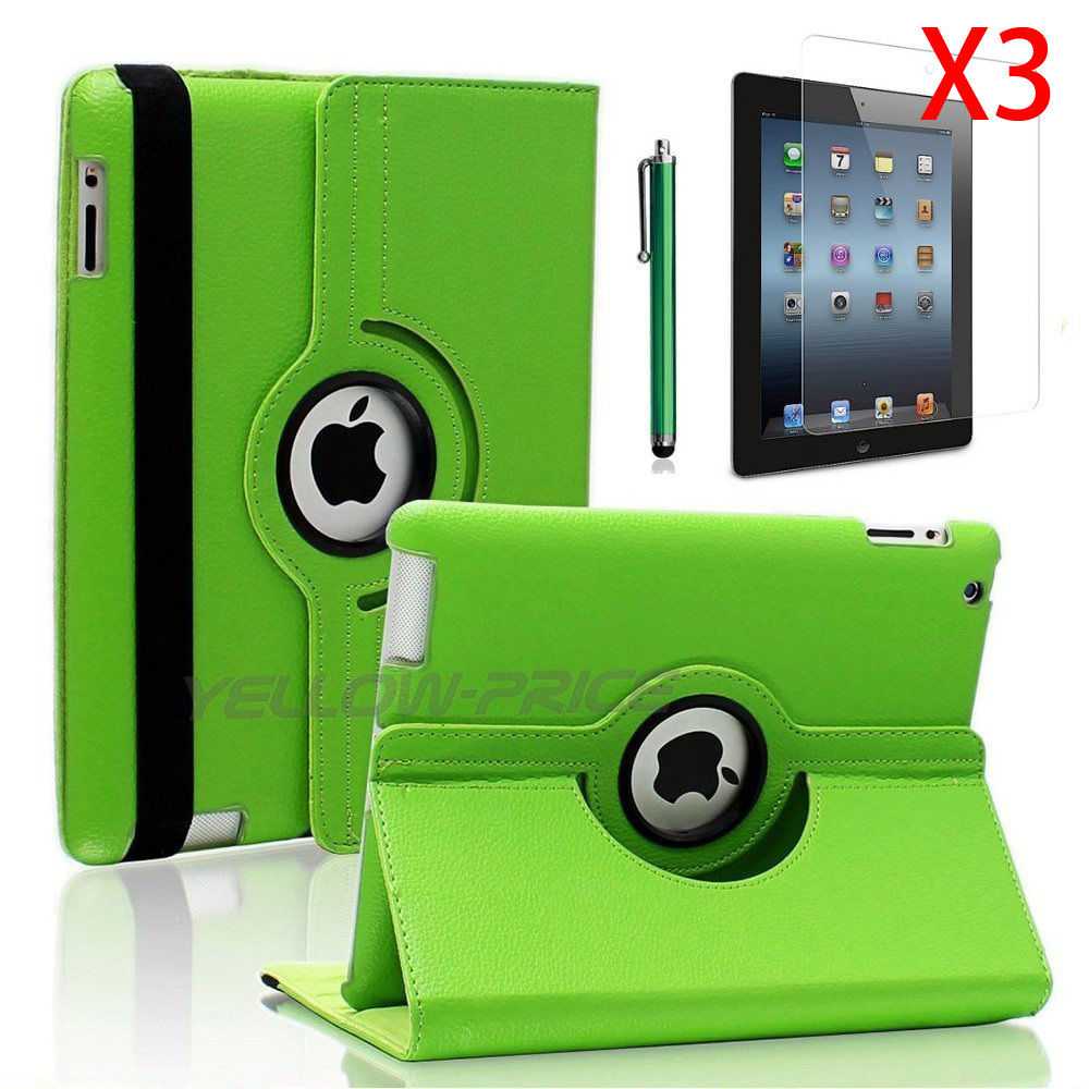 LivEditor 360-degree Swivel Leather Case Films for Apple® iPad® 2 / The new iPad® - Green - image 5 de 5