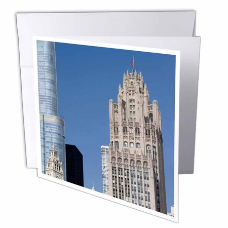 3Drose Usa  Illinois  Chicago  Tribune Tower   Us14 Cmi0045   Cindy Miller Hopkins  Greeting Cards  6 X 6 Inches  Set Of 6