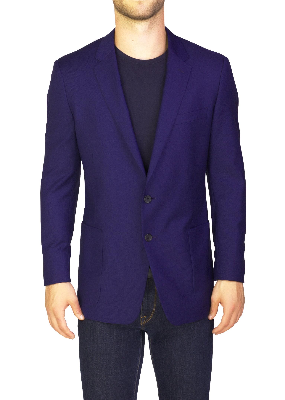 Prada Men's Virgin Wool Mohair Two-Button Sportscoat Jacket Blue by Prada