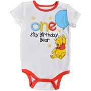 Disney Baby Boy's Winnie The Pooh Short Sleeve 1st Birthday Bodysuit Onesie