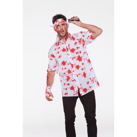 Halloween Wholesalers Zombie Men's Fancy Dress Costume Shirt - Top Fancy Dress Costumes