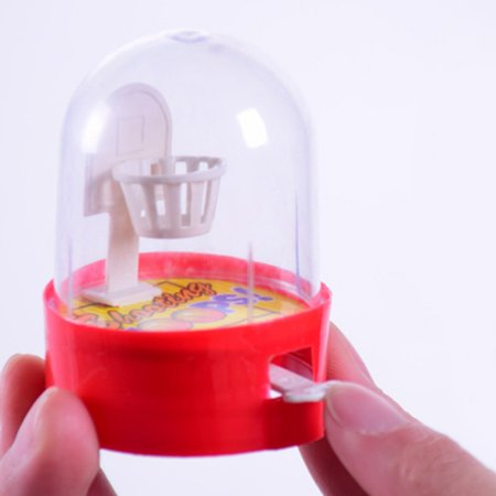 Children's Puzzle Mini Finger Shooting Toys Pocket Desktop Table Handheld Basketball Game for Stress Relief Killing Time(1 Piece Random Color) ()