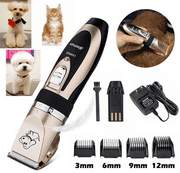 Professional Low Noise Cordless Pet Cat Dog Hair Grooming Trimmer Clipper Kit