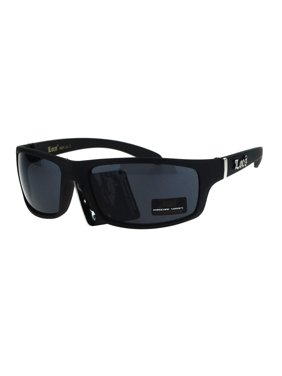 7ff817c95d0a9 Product Image Locs All Black Mad Dog Cholo Rectangular Gangster Biker Sunglasses  Matte Black