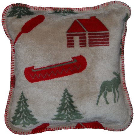 Denali Moose (Denali Throws Moose Camp Throw Pillow )