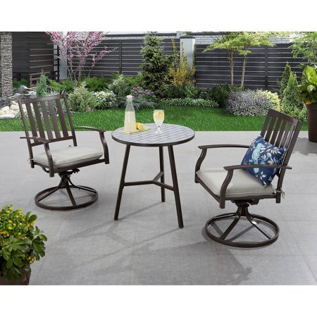 Better Homes And Gardens Camrose Farmhouse Outdoor Mix And Match Slat Back Swivel Chairs Set Of