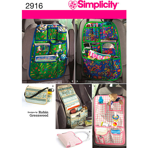 Simplicity Pattern Car Organizers, One Size