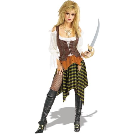 Pirate Of The Seven Seas Pirate Wench Adult One Size Fits Most - Pirate And Wench Costumes