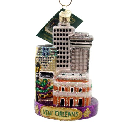 Mardi Gras Ornaments (Old World Christmas NEW ORLEANS Glass Ornament Mardi Gras French)