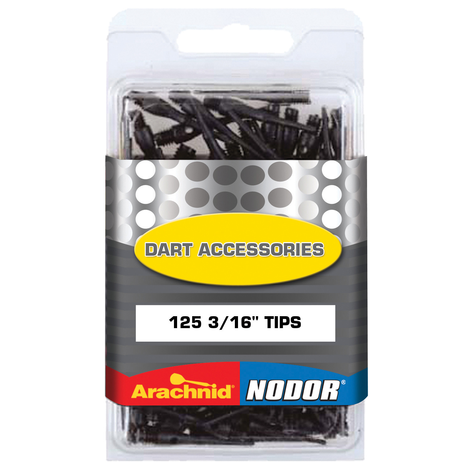 """Arachnid/Nodor Dart Accessories 125 3/16"""" Soft Tips for Use with Electronic Dartboards"""