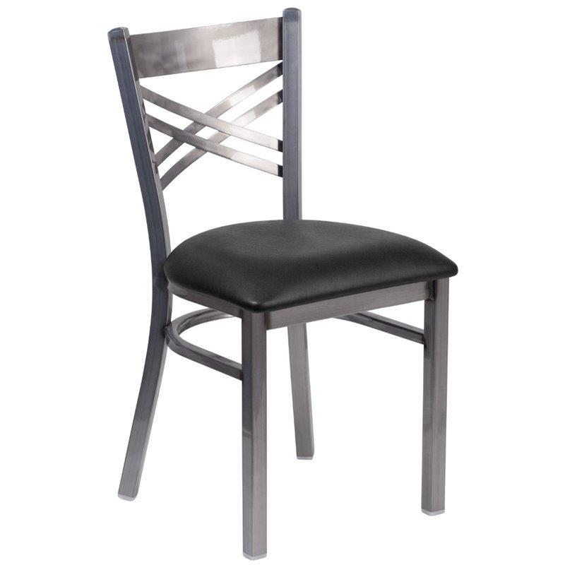 Flash Furniture Metal Dining Chair in Black