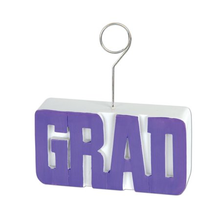 Pack of 6 Royal Purple Grad Photo or Balloon Holder Decorations 6 oz. for $<!---->