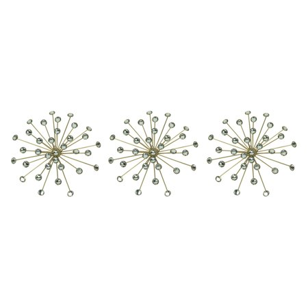 Jeweled Bursting Star Wall Sculpture Set of 3