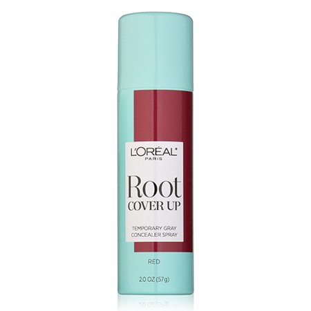 Loreal Paris Hair Color Root Cover Up Dye Kit, Temporary Gray Concealer Spray, Red, 2 oz](Dye Spray)