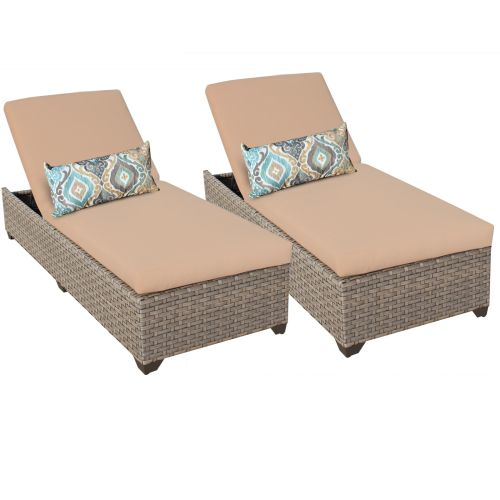 Miseno MPF-MNTR2X Pacific West 2-Piece Aluminum Framed Outdoor Chaise Lounge Cha