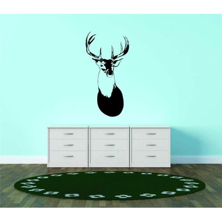 Custom Wall Decal Deer Head Buck Antler Hunting Animal Vinyl Wall Vinyl Peel And Stick Sticker Wall Graphic 10x30