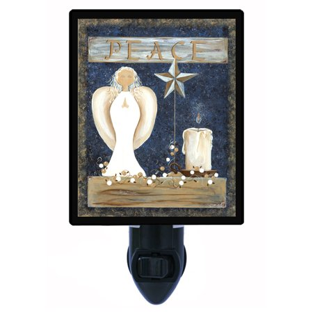Night Light - Photo Light - Peace for All - Angel - Religious