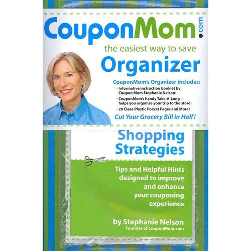 CouponMom Organizer: Green & Blue Stripe Design