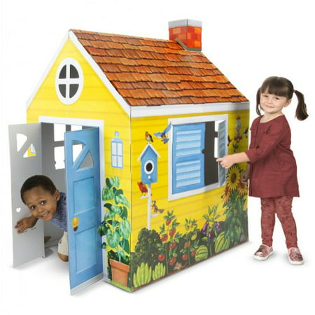 Melissa & Doug Country Cottage Indoor Corrugate Playhouse (Over 4 Feet (Best Toddler Indoor Playhouse)