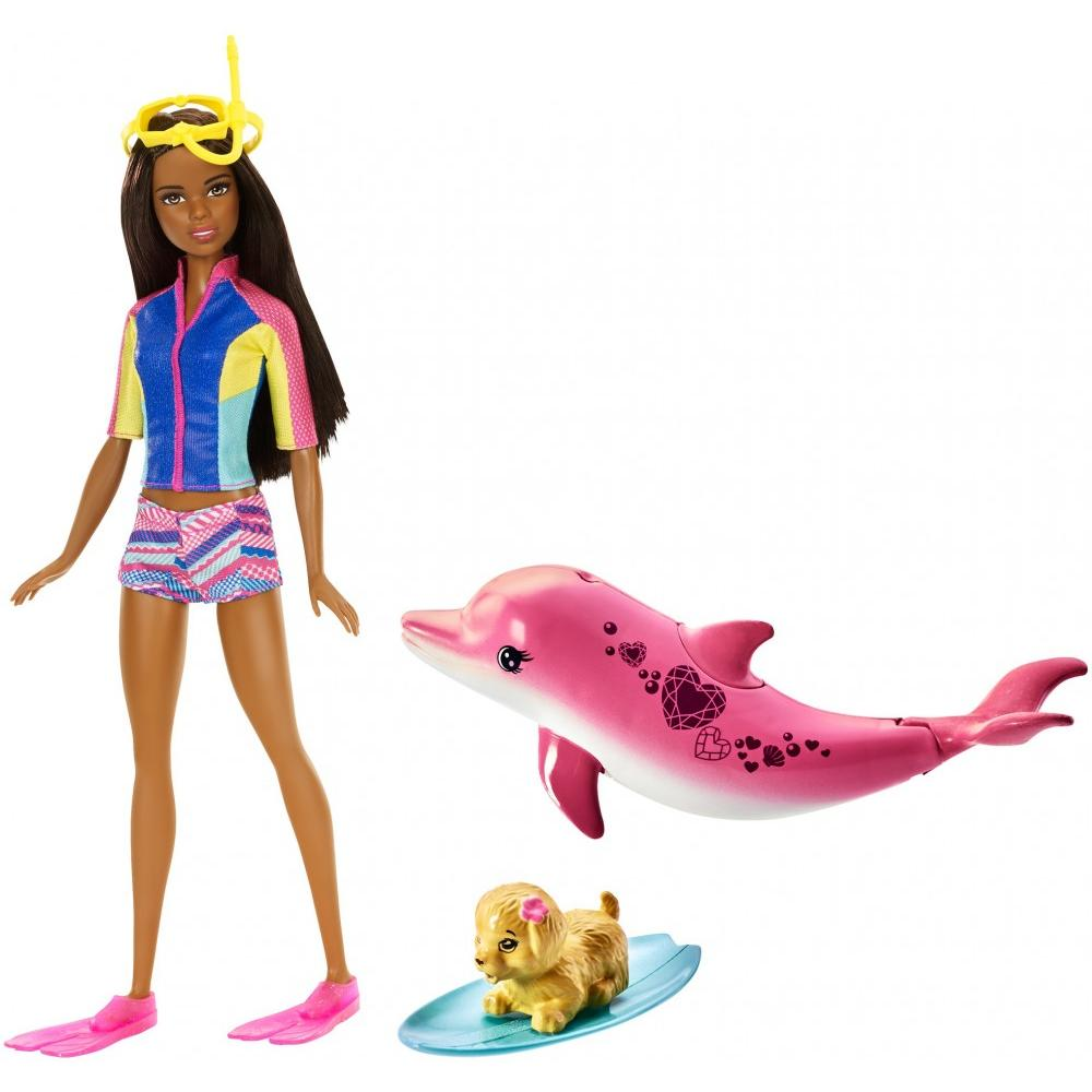 Barbie Dolphin Magic Barbie Doll with Snorkel Mask & Fins